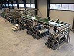 Speciální chemické a tužící úpravárenské linky pro úpravu skleněných tkanin